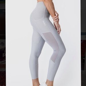 Kora now Acta gray leggings with mesh and pockets